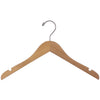 "15"" Raw Wood Shirt Hanger with Notched Shoulder"