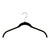 "16.75"" Black Flocked/Velvet Ultra-Thin Shirt or Dress Hangers"