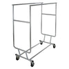 Collapsible Garment Rack w/ Double Round Tubing Hangrail