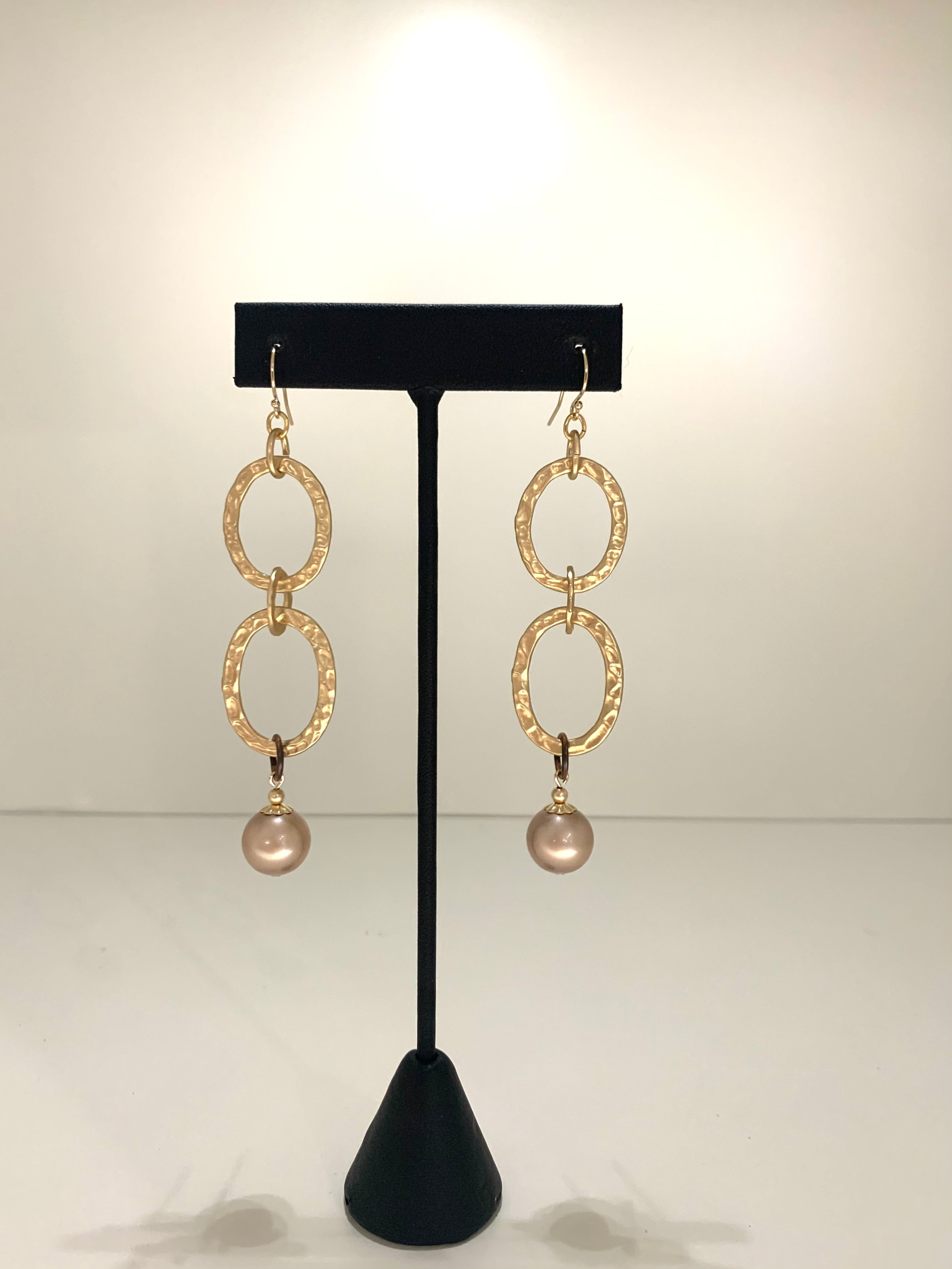 Unity Link Drop Pearl Earrings