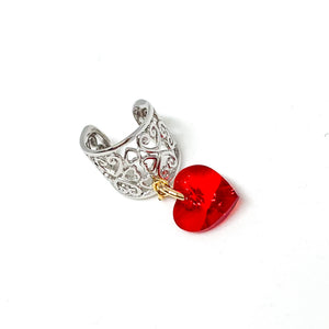 """Be Mine"" Heart Ear Cuff"