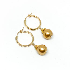 Hoop Pearl Drop (22mm)