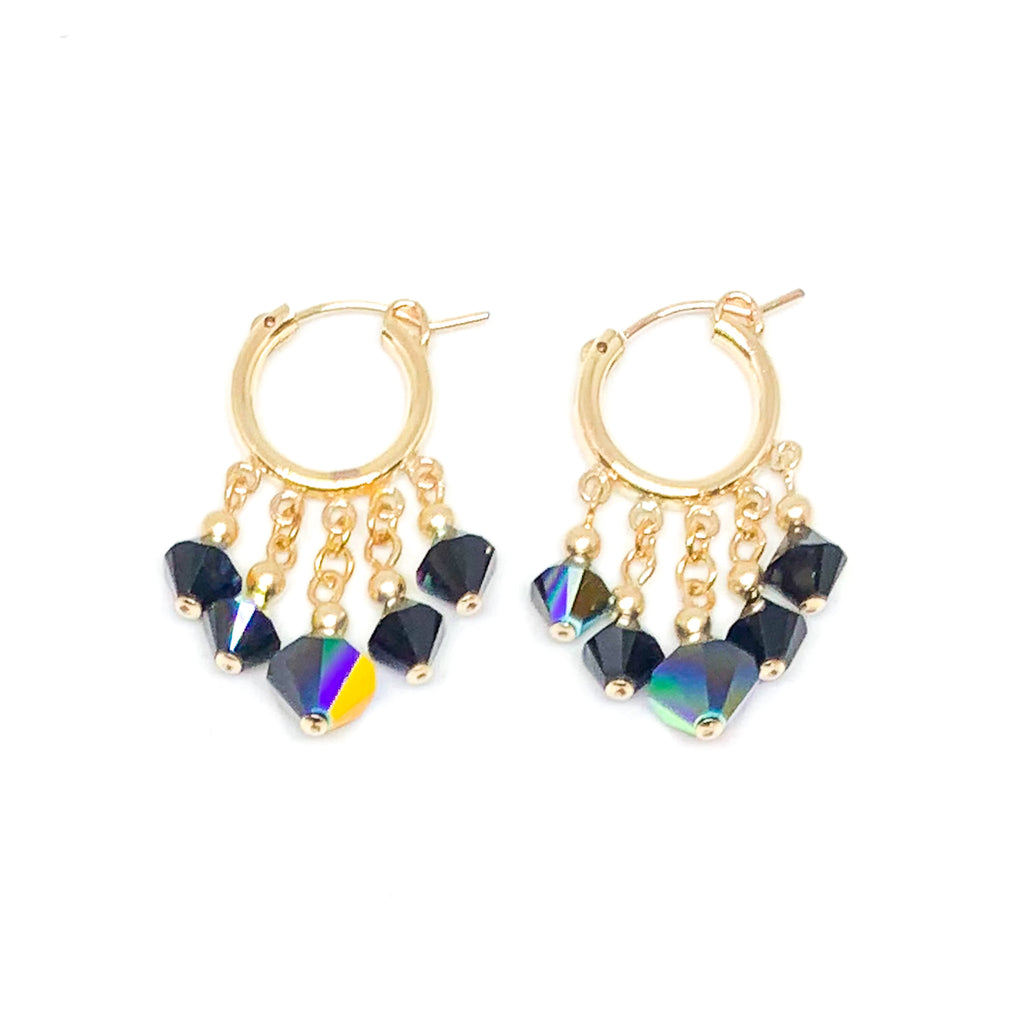 Cordelia-V Crystal Drop Earrings