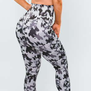 Grey Camo Compression Leggings