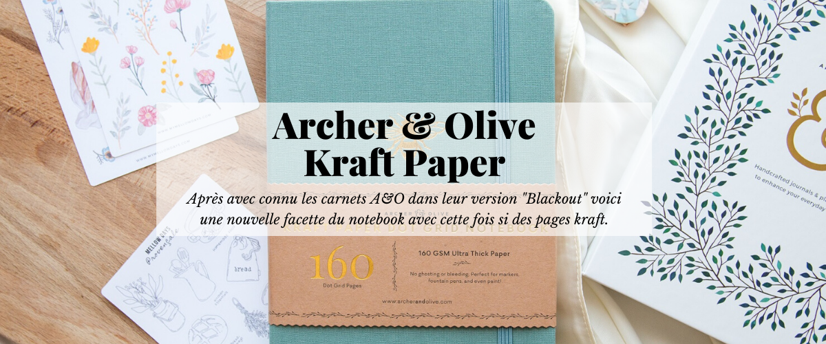 Archer and Olive Kraft Paper France