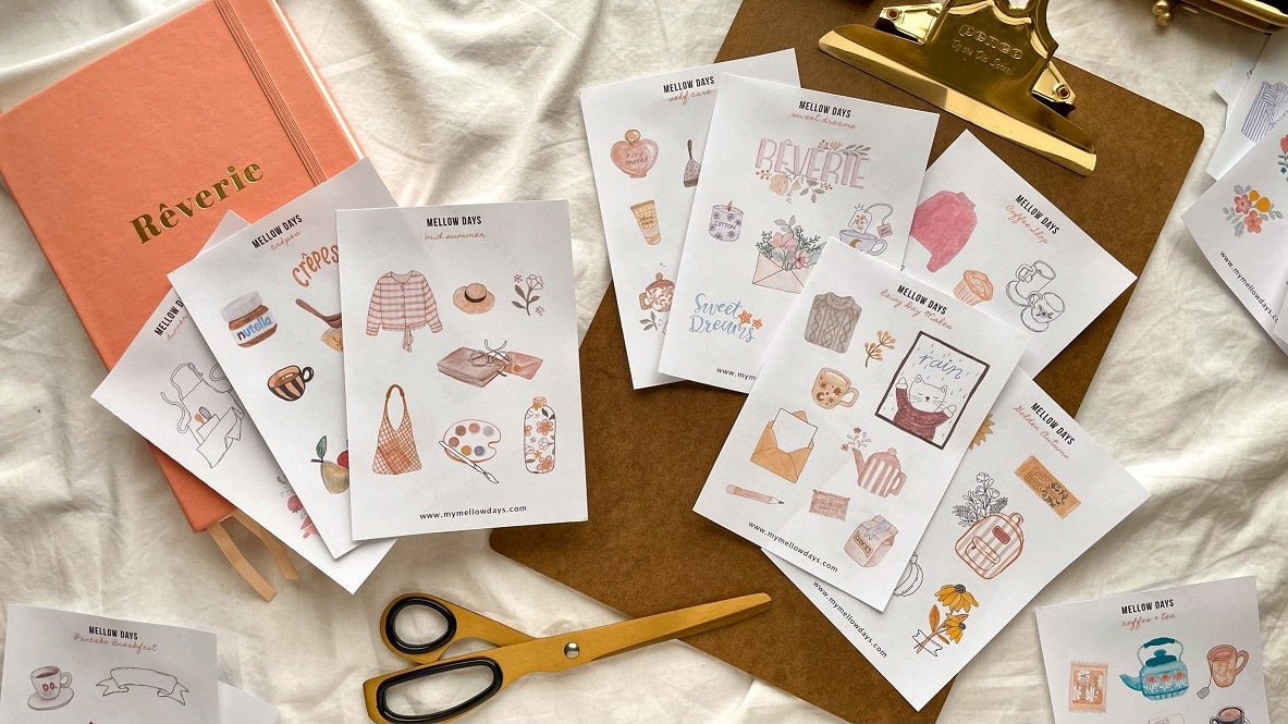 Mellow Days Free Printable Stickers