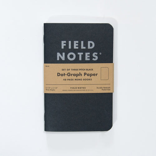 Field Notes - Black Memo Pointillé