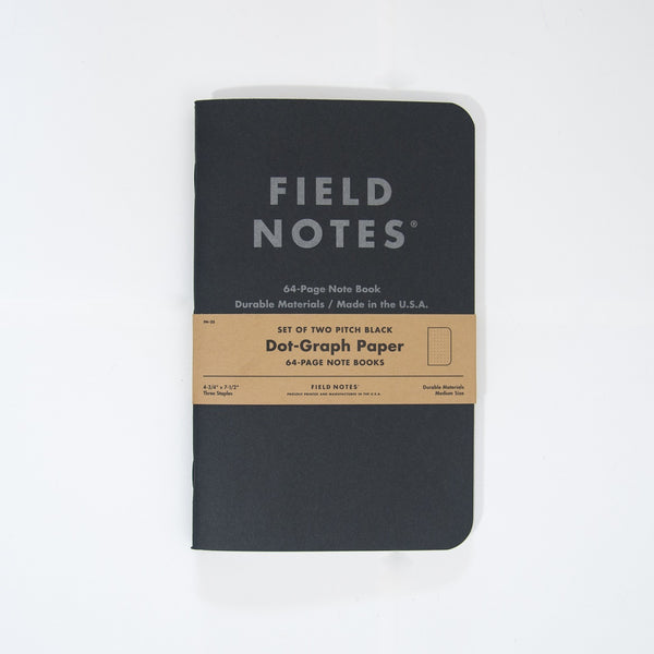 Field Notes - Pitch Black Notebook