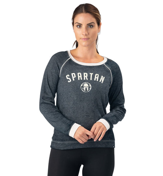 SPARTAN '47 Fade Out Boyfriend Crew - Women's