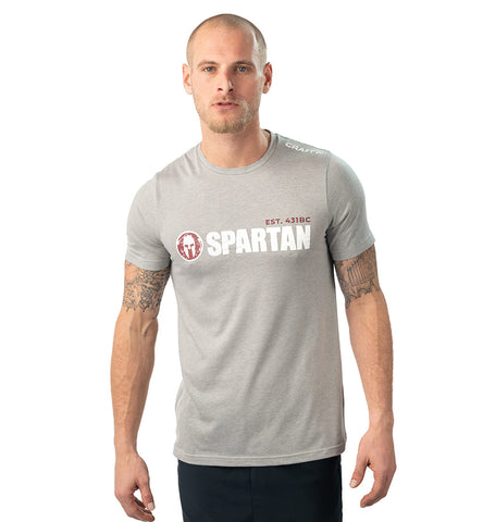 SPARTAN by CRAFT Classic Logo Tri-Blend SS Tee - Men's