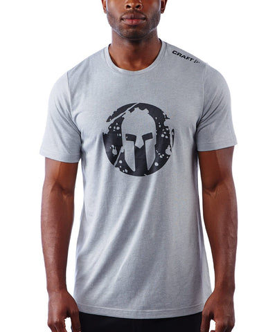 SPARTAN by CRAFT Helmet Logo Tri-Blend SS Tee - Men's