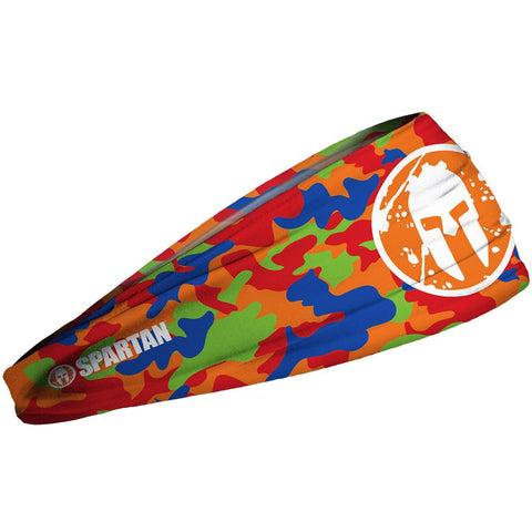 SPARTAN JUNK Headband - Camo Orange Kids