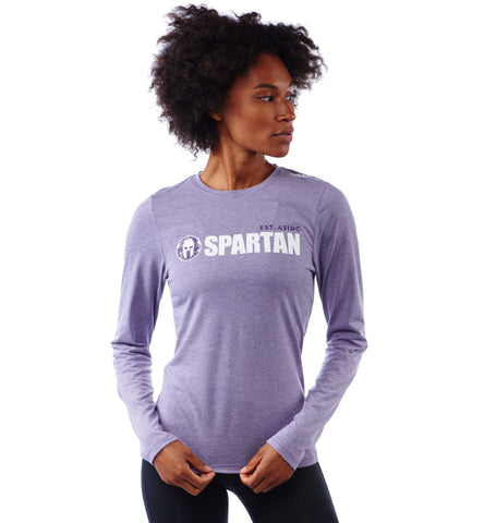 SPARTAN by CRAFT Classic Logo Tri-Blend LS Tee - Women's