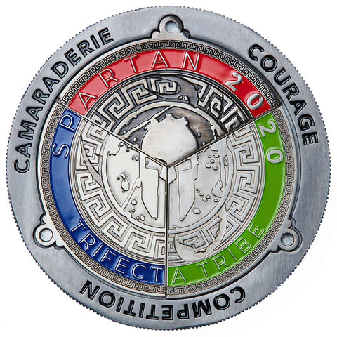 SPARTAN Trifecta Medal Display