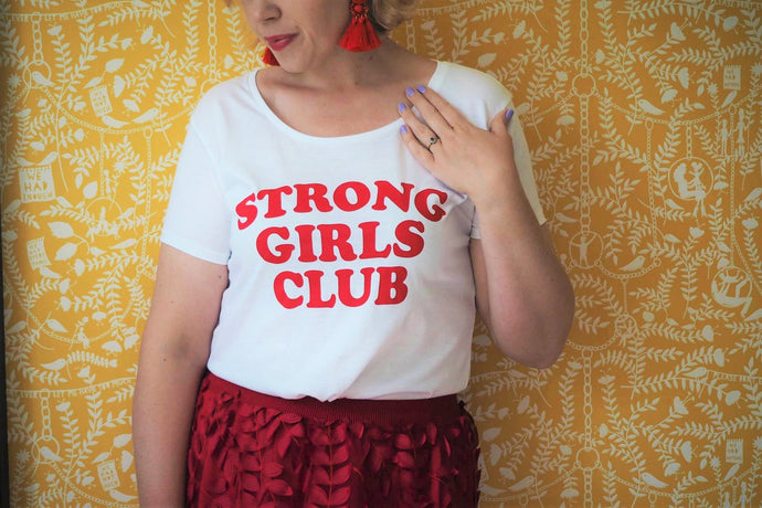 Strong Girls Club Scoop TShirt