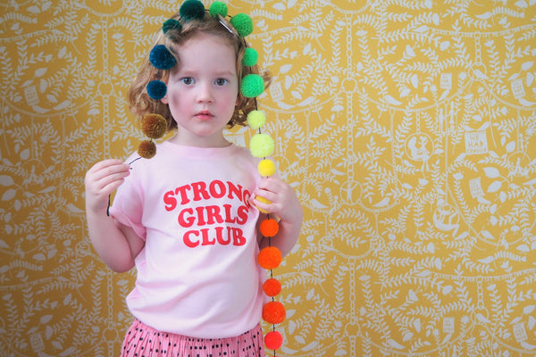 Strong Little Girls Club Pink TShirt