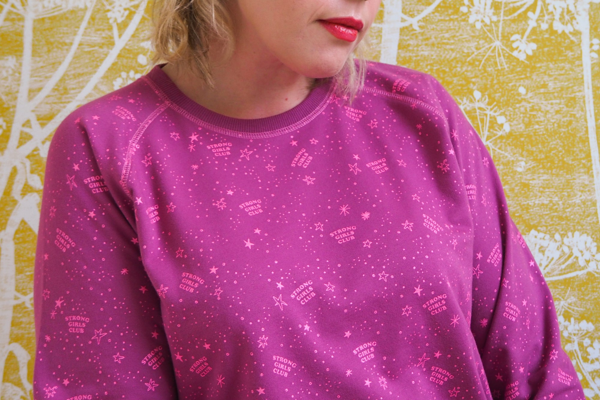 Stardust Sweatshirt - Berry
