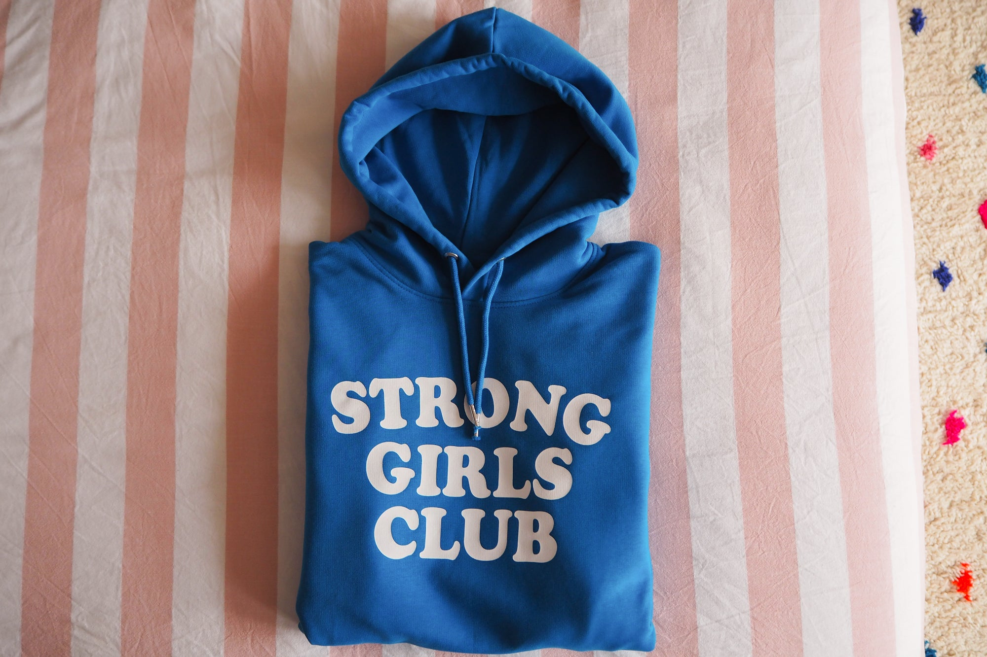 Blue Strong Girls Club Hoodie
