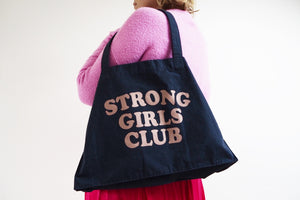 Strong Girls Club Navy Shopper