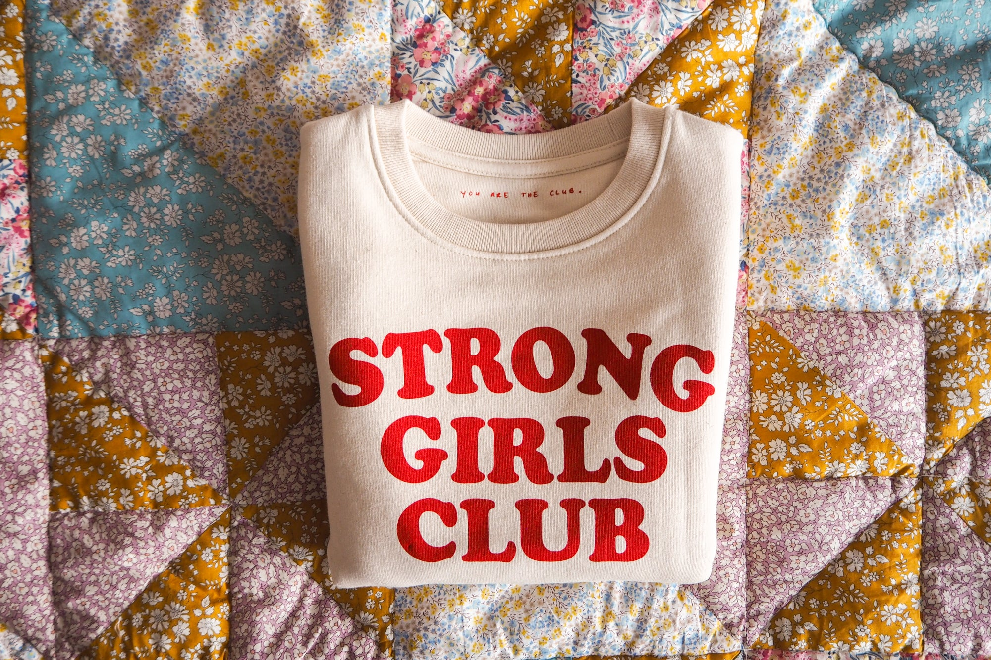 Strong Little Girls Club Natural Sweatshirt