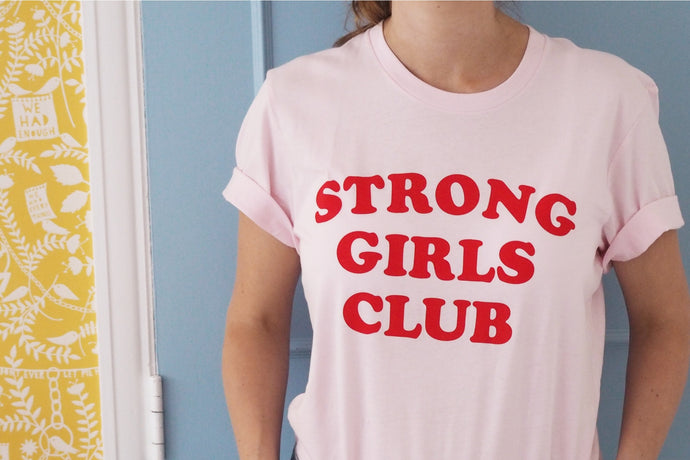 Strong Girls Club Pink TShirt