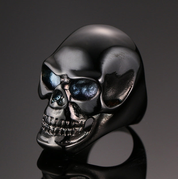 Gothic Skeleton Biker Ring