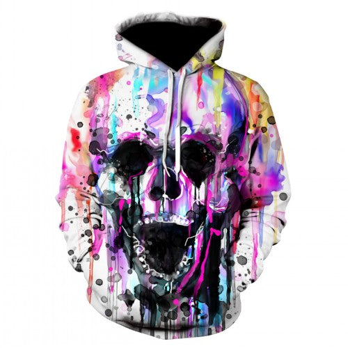 Unisex Graffiti Skull Hoodies
