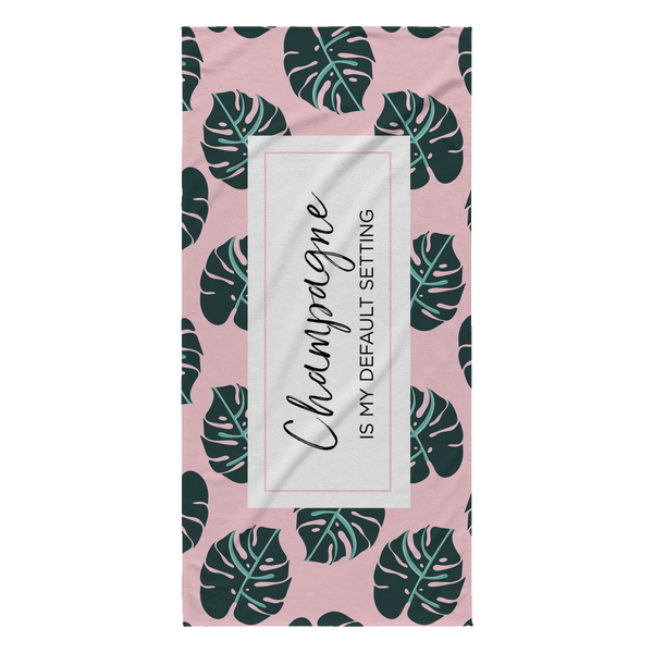 pink palm springs beach towel