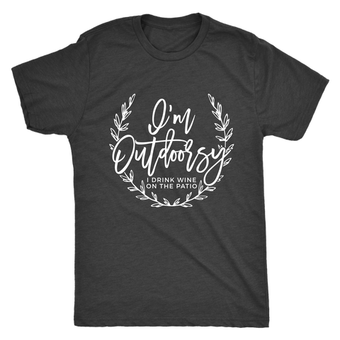 I'm Outdoorsy Wine Tee