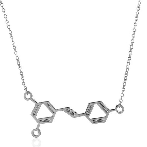 Wine Molecule Pendant Necklace