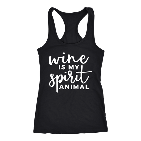 Wine is my Spirit Animal Tank