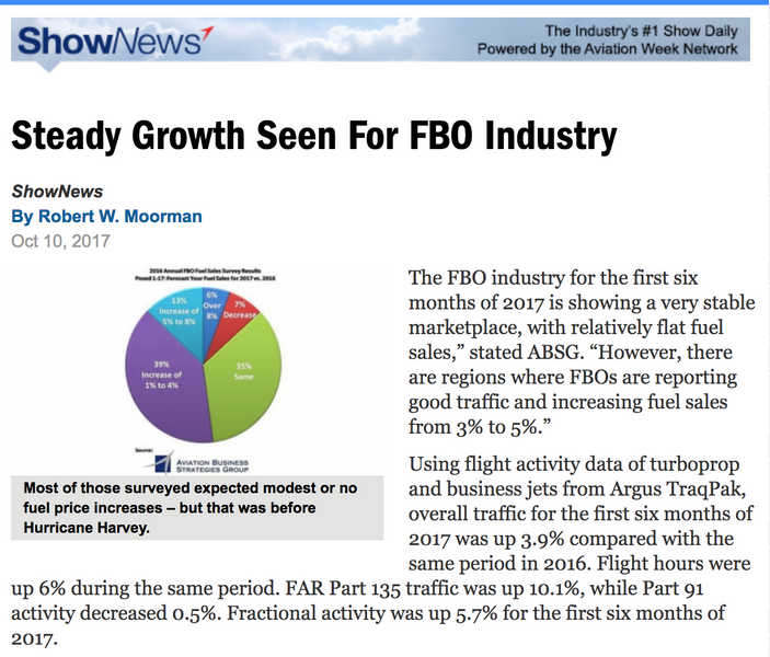 Steady Growth Seen For FBO Industry