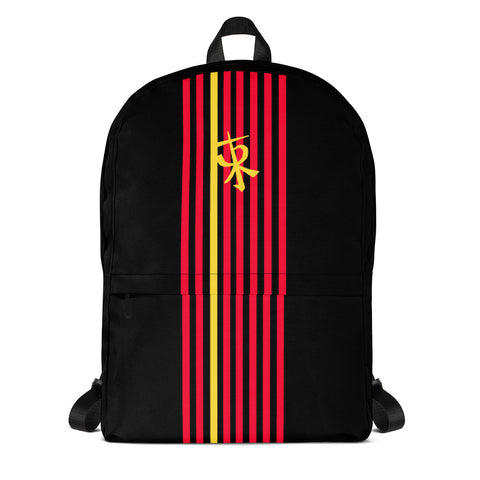 Yellow Striped Backpack