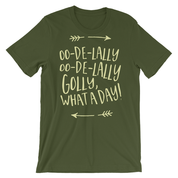 Robin Hood Oo-De-Lally Oo-De-Lally Golly, What A Day! Olive Crew Neck