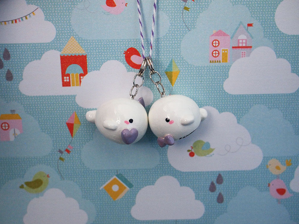 Custom momomints Baby Beluga Keycharms