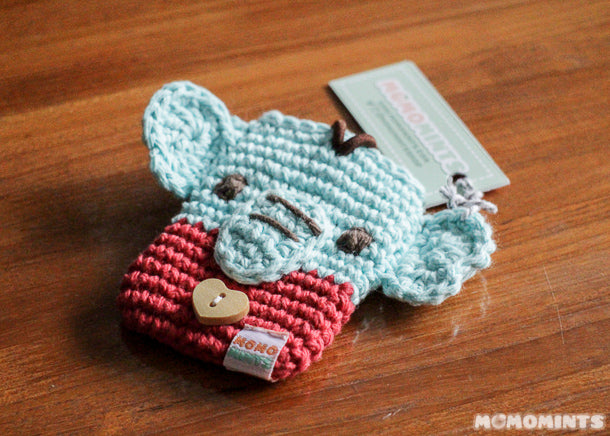 Momomints Custom Ordered Crochet Elephant Pouch for Credit Cards