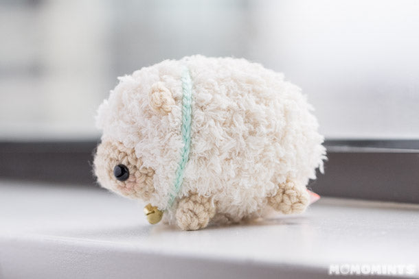 Fluufie the Amigurumi Sheep Side View