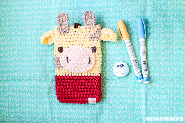 Momomints Custom Order Momo Pouch - Giraffe with Red Shirt