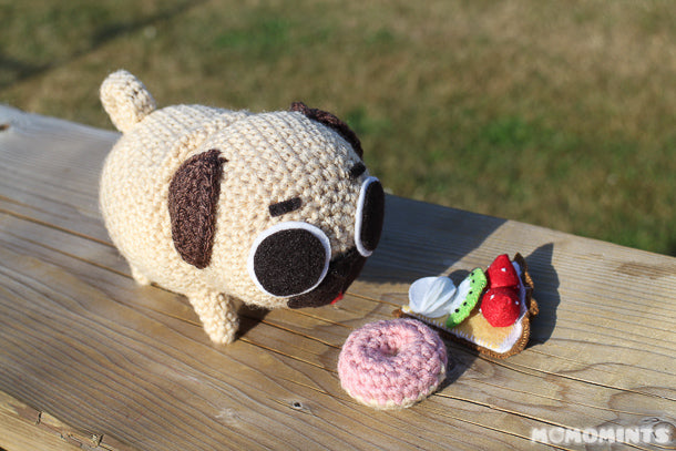 Puglie the Pug Deciding on Desserts