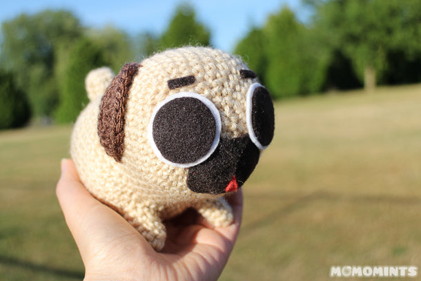 Cuddly Little Puglie the Pug as a Stuffed Toy, Ready for Adventures!