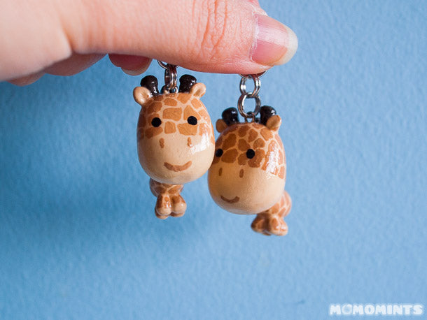 Matching Couple Keychain Set with Standing Giraffe