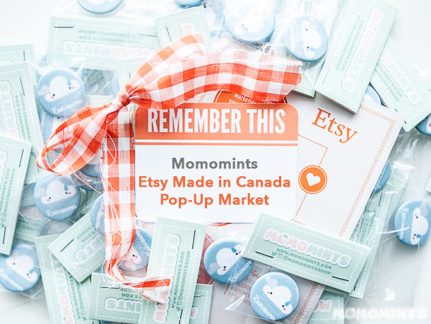 Momomints at the Etsy Made in Canada Pop-up Market 2015 at Robson Square Vancouver
