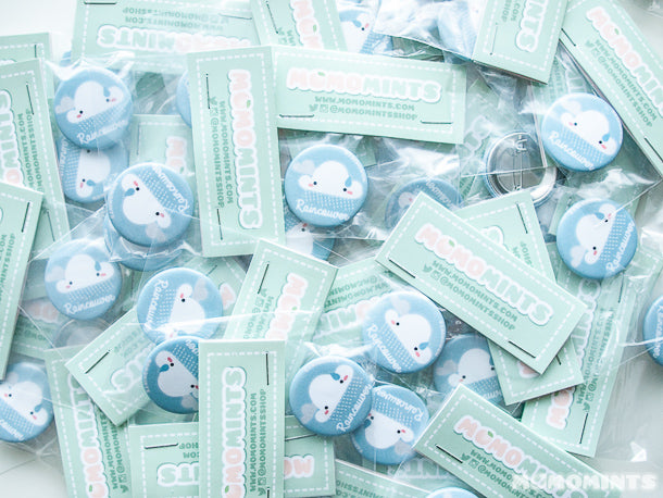 Momomints Grab Bag Goodie Bag Exclusive Raincouver Raincloud Button Pins