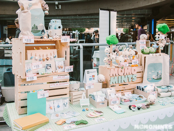 Peach and Mint Everything at the Etsy Made in Canada Market in Vancouver 2014