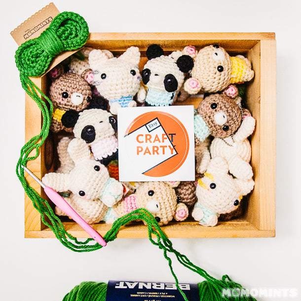 Stocking up with Amigurumi Keychains for the Etsy Made in Canada Market Fall 2014
