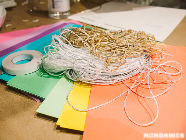 Etsy Vancouver Craft Party Supplies - Strings and Coloured Paper