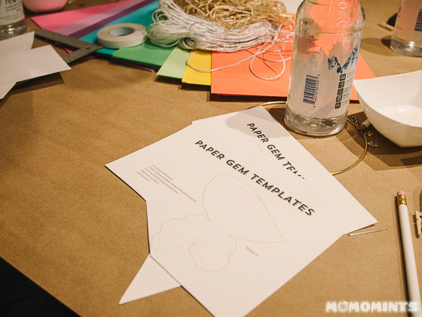 Etsy Vancouver Craft Party 2015 - Paper Gem Templates