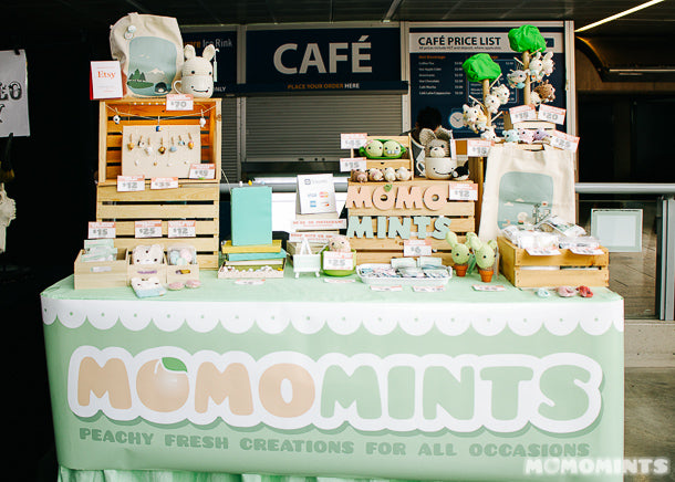 Momomints Booth at Etsy Vancouver's Made in Canada Pop-up Market 2015 at Robson Square