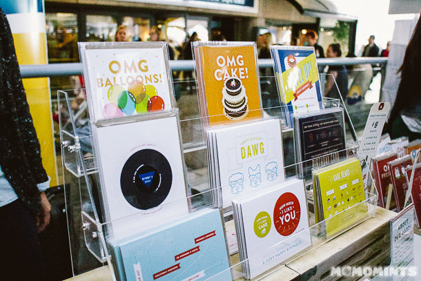 Quirky Paper Co Cards at the Etsy Made in Canada Pop-up Market at Robson Square