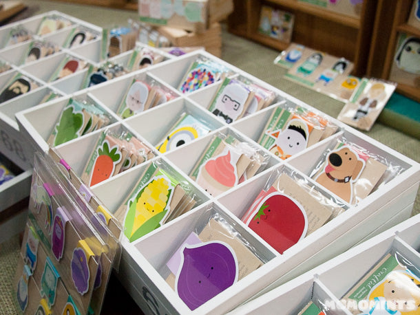 You can mix and match your own set of bookmarks at Craft'ed Van's craft fair booth!